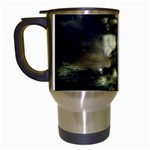 Dark Gothic Pirate Ship at Sea Fantasy Travel Mug (White)