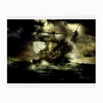 Dark Gothic Pirate Ship at Sea Fantasy Glasses Cloth (Small)