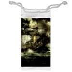 Dark Gothic Pirate Ship at Sea Fantasy Jewelry Bag
