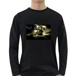 Dark Gothic Pirate Ship at Sea Fantasy Long Sleeve Dark T-Shirt