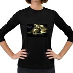 Dark Gothic Pirate Ship at Sea Fantasy Women s Long Sleeve Dark T-Shirt