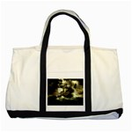 Dark Gothic Pirate Ship at Sea Fantasy Two Tone Tote Bag