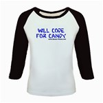 Will Code For Candy Kids Baseball Jersey