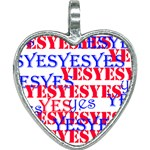 The Yes Bag!  Stay Positive! Heart Necklace