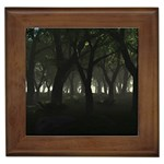 Gothic Dark Forest at Dusk Framed Tile