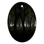 Gothic Dark Forest at Dusk Ornament (Oval)