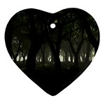 Gothic Dark Forest at Dusk Ornament (Heart)