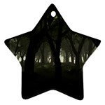 Gothic Dark Forest at Dusk Ornament (Star)
