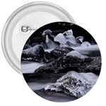 Dark Gothic Winter River of Ice 3  Button
