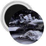 Dark Gothic Winter River of Ice 3  Magnet