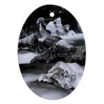 Dark Gothic Winter River of Ice Ornament (Oval)