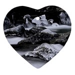 Dark Gothic Winter River of Ice Ornament (Heart)