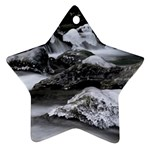 Dark Gothic Winter River of Ice Ornament (Star)