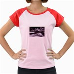 Dark Gothic Winter River of Ice Women s Cap Sleeve T-Shirt