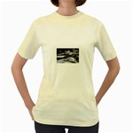 Dark Gothic Winter River of Ice Women s Yellow T-Shirt