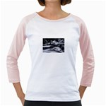 Dark Gothic Winter River of Ice Girly Raglan