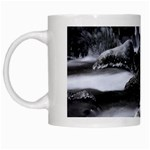 Dark Gothic Winter River of Ice White Mug