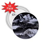Dark Gothic Winter River of Ice 2.25  Button (10 pack)