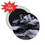 Dark Gothic Winter River of Ice 2.25  Magnet (10 pack)