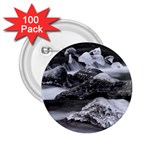 Dark Gothic Winter River of Ice 2.25  Button (100 pack)