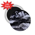Dark Gothic Winter River of Ice 2.25  Magnet (100 pack)