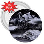 Dark Gothic Winter River of Ice 3  Button (10 pack)
