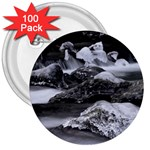 Dark Gothic Winter River of Ice 3  Button (100 pack)
