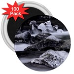 Dark Gothic Winter River of Ice 3  Magnet (100 pack)