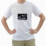Dark Gothic Winter River of Ice White T-Shirt