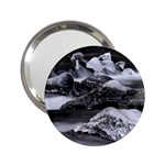 Dark Gothic Winter River of Ice 2.25  Handbag Mirror