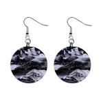 Dark Gothic Winter River of Ice 1  Button Earrings