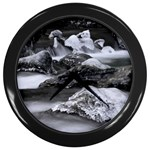 Dark Gothic Winter River of Ice Wall Clock (Black)