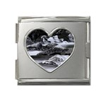 Dark Gothic Winter River of Ice Mega Link Heart Italian Charm (18mm)