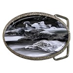 Dark Gothic Winter River of Ice Belt Buckle