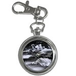 Dark Gothic Winter River of Ice Key Chain Watch