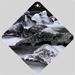 Dark Gothic Winter River of Ice Car Window Sign