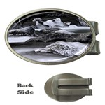 Dark Gothic Winter River of Ice Money Clip (Oval)