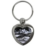 Dark Gothic Winter River of Ice Key Chain (Heart)