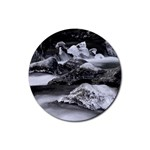Dark Gothic Winter River of Ice Rubber Coaster (Round)