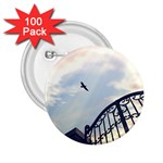 Lonely Crow at Palace Gate Scenic Sky 2.25  Button (100 pack)