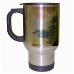 Lonely Crow at Palace Gate Scenic Sky Travel Mug (Silver Gray)