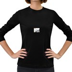 Lonely Crow at Palace Gate Scenic Sky Women s Long Sleeve Dark T-Shirt