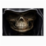 Face of Grim Reaper Goth Death Dark Postcard 5  x 7