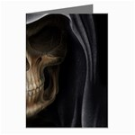 Face of Grim Reaper Goth Death Dark Greeting Cards (Pkg of 8)