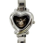 Face of Grim Reaper Goth Death Dark Heart Italian Charm Watch