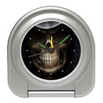 Face of Grim Reaper Goth Death Dark Travel Alarm Clock