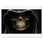 Face of Grim Reaper Goth Death Dark Jigsaw Puzzle (Rectangular)
