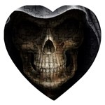 Face of Grim Reaper Goth Death Dark Jigsaw Puzzle (Heart)