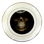 Face of Grim Reaper Goth Death Dark Porcelain Plate
