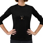 Face of Grim Reaper Goth Death Dark Women s Long Sleeve Dark T-Shirt